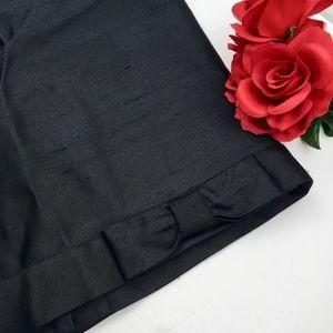 TALBOTS Black SILK WOOL Bow Pencil Skirt Size 6